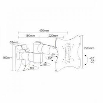 Držák TV Fiber Novelty FN503A stříbrný