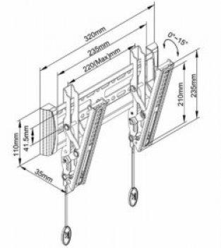 TV držák s náklonem až 15° Northbayou C1T