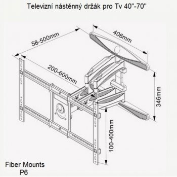 DRŽÁK NA TV NA STĚNU FIBER MOUNTS P6